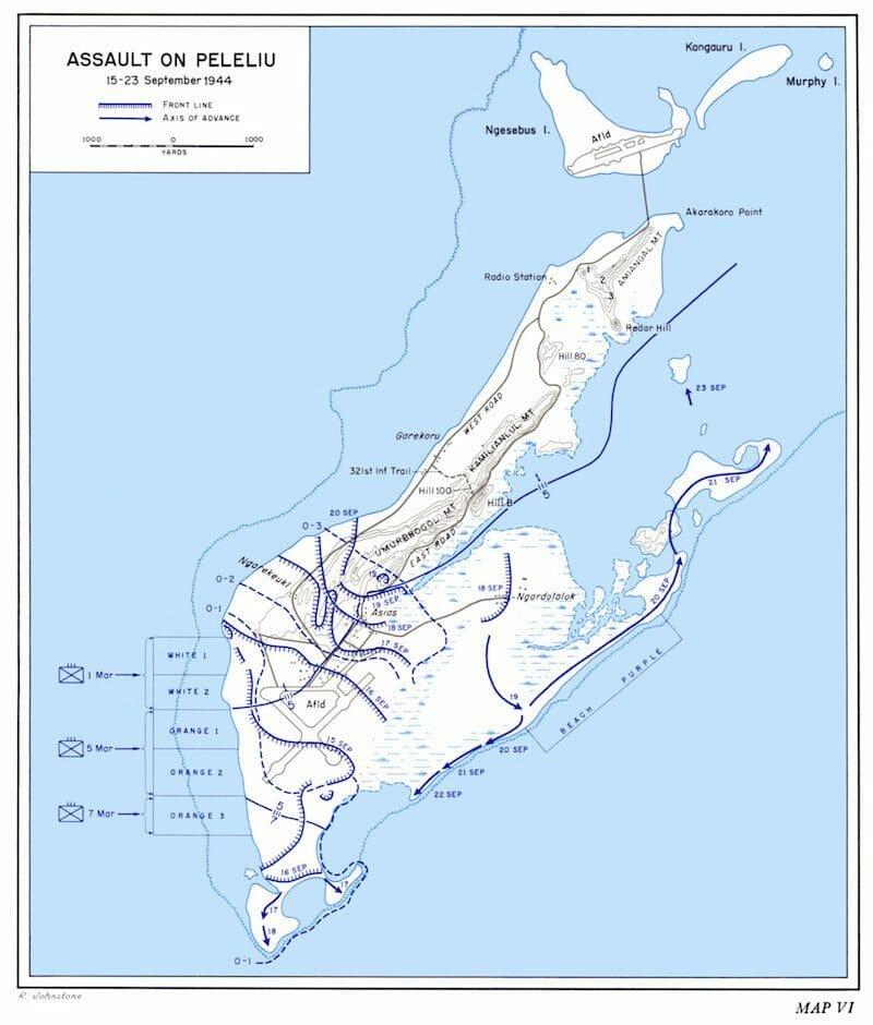Peleliu map