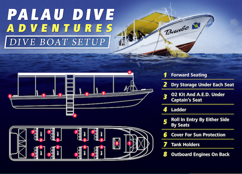 palau dive adventures boat