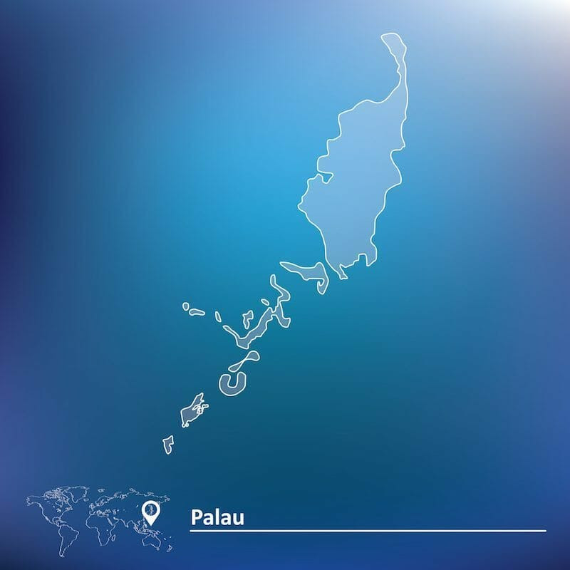 where is palau located